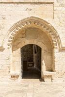 alte Holztür auf einem Haus im alten Jerusalem. Israel.