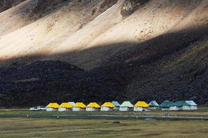 Sarchu Campingplatz, Indien foto