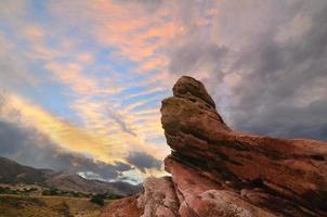 Sonnenuntergang im Südtal foto