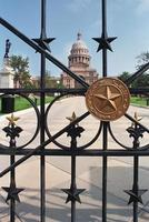 Texas Capitol Grounds Gate foto