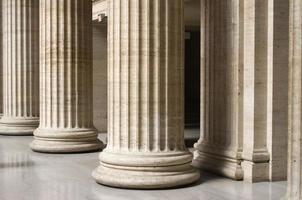 Säulen an der Union Station in Chicago foto