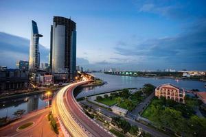 Sonnenuntergang in Saigon foto