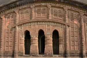 Bögen des Tempels - Bishnupur, Indien foto