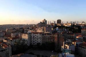 Blick auf die Stadt Istanbul foto