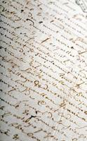 altes Manuskript foto
