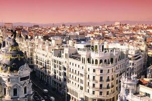 Sonnenaufgang in Madrid foto