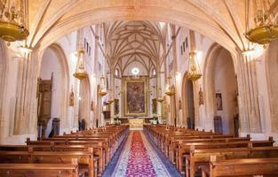 madrid - Kirchenschiff der Kirche san jeronimo el real foto