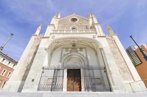 Kirche von San Jeronimo, Madrid. berühmtes Wahrzeichen in Spanien. foto