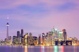 Toronto Skyline in der Abenddämmerung