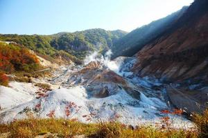 Noboribetsu, Hokkaido, Japan im Jigokudani Hell Valley