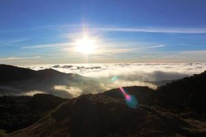 silberner Sonnenuntergang foto
