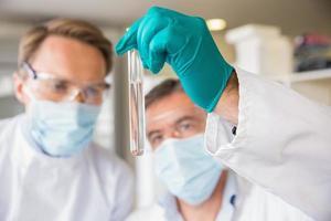 Team von Wissenschaftlern zusammenarbeiten