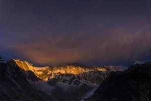 Blick auf Annapurna I vom Annapurna Basislager Himalaya Berge foto