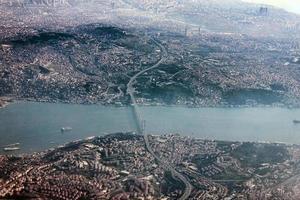 Luftaufnahme von Istanbul foto