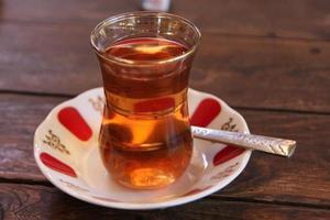 zartes Glas türkischen Tee foto