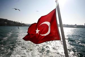 türkische Flagge foto