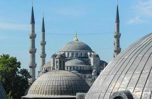 blaue Moschee von Hagia Sophia aus gesehen