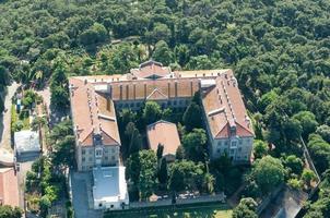 Istanbul Luftaufnahme. Theologische Schule von Chalki