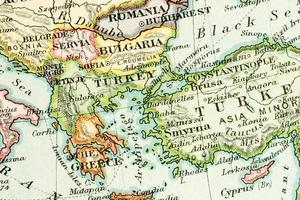 antike Karte foto