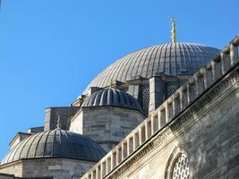 Details der Architektur der süleymaniye Moschee, Istanbul foto