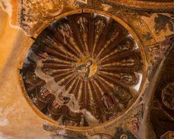 Jesus und Mary Wandbild in der Chora Kirche foto
