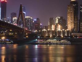 die Nacht des Yangzi Flusses foto