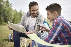 Familienvorbereitung Trail für das Wochenende