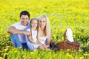 Familienpicknick foto