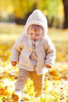 Herbstporträt des Kindes