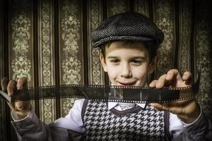 Kind als analoger fotografischer Film foto