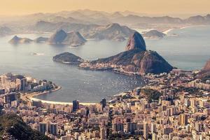 Suggar Laib und Botafogo Strand von Corcovado aus gesehen