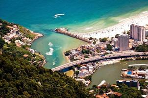 Luftaufnahme der Barra da Tijuca foto
