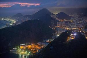 Rio de Janiero in der Nacht foto