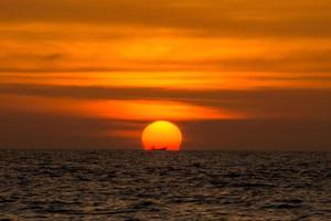 Andaman Sonnenuntergang. foto