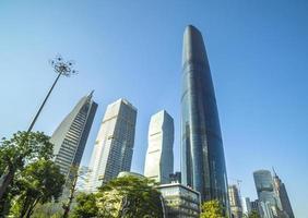 Skyline in Guangzhou China foto