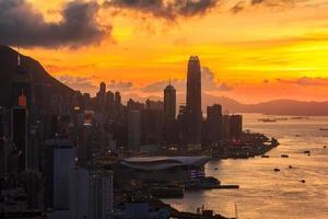 Sonnenuntergang Stadtbild foto