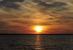 Sonnenuntergangsbucht foto