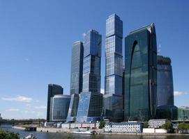 Wolkenkratzer des internationalen Geschäftszentrums (Stadt), Moskau, Russland foto