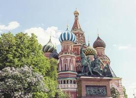 berühmteste russische Kathedrale auf dem roten Platz foto