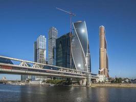 Bagrationsbrücke und Business Center Moskau-Stadt.
