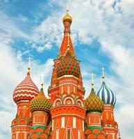 Die berühmteste Kathedrale auf dem roten Platz in Moskau foto