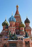Heilige Basilikum Kathedrale auf rotem Quadrat, Moskau foto
