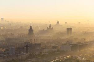 Sonnenaufgang in Moskau foto