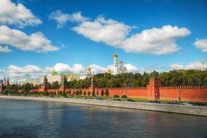 Panoramablick auf die Innenstadt von Moskau mit Kreml foto