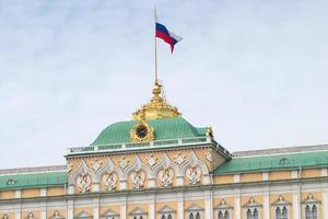 Spitze des großen Kremlpalastes in Moskau foto