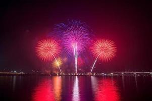 Feuerwerksfest in Korea. foto