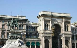 vittorio emanuele ii galerie, milan, italien