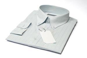 Herrenhemd und Etikett foto