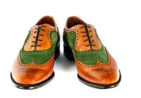 Herren Zuschauer Stil Kleid Schuhe isoliert foto