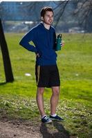 Läufer im Park foto